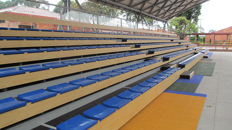 GIMNASIO LOS ANDES   BOGOTA (COLOMBIA)-Telescopic bleachers Sports